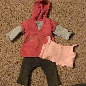 Four piece American girl outfit